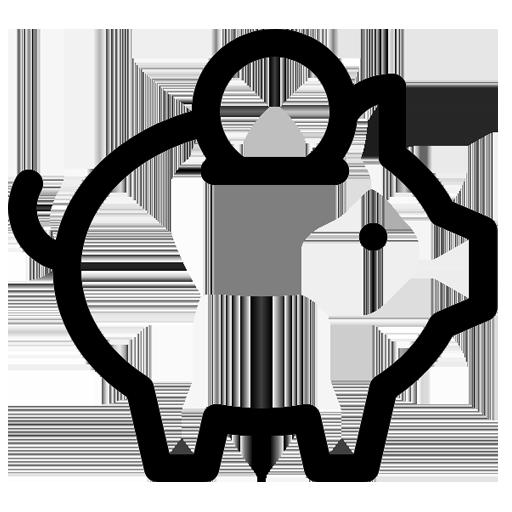 Icon Bespaar geld